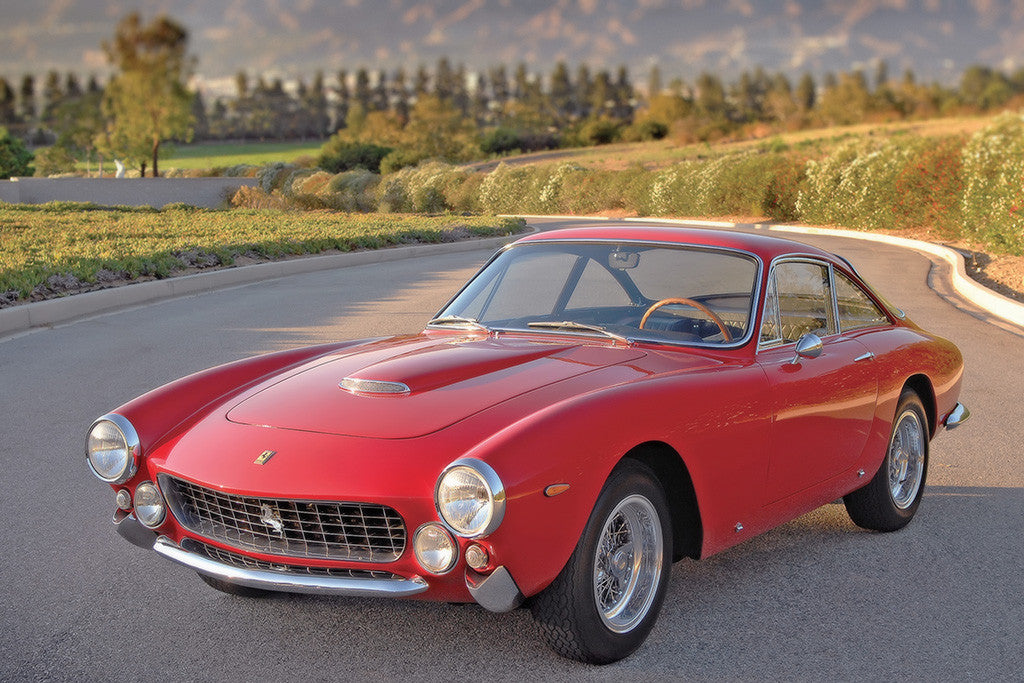 Ferrari 250 GT Lusso 1962 Old Retro Car Poster