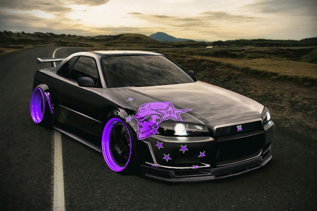 Nissan Skyline Gtr R34 Car Poster My Hot Posters
