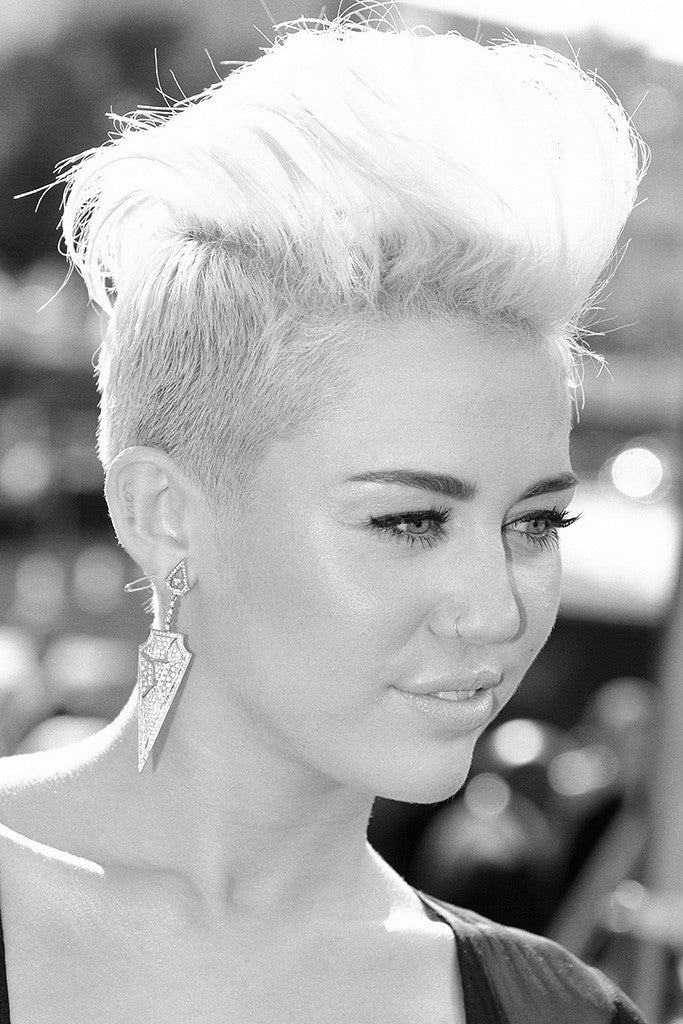 Miley Cyrus Hot Girl Black-White Poster