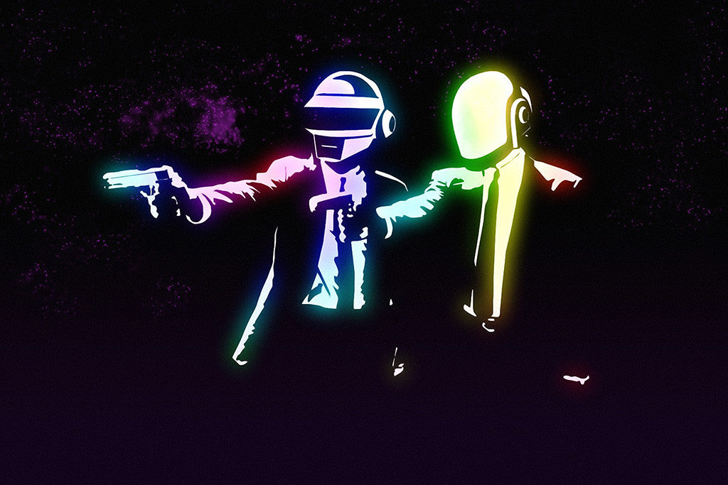 Daft Punk Pulp Fiction Poster