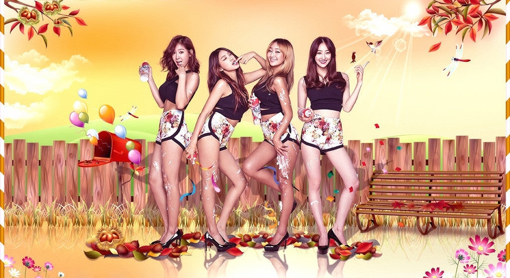 Sistar Touch My Body Hot Asian Girls Poster
