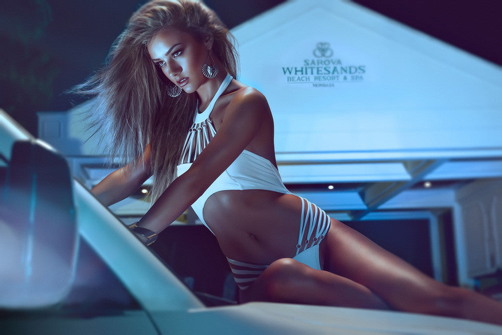 Hot Girl On The Car Miss Tuning Poster
