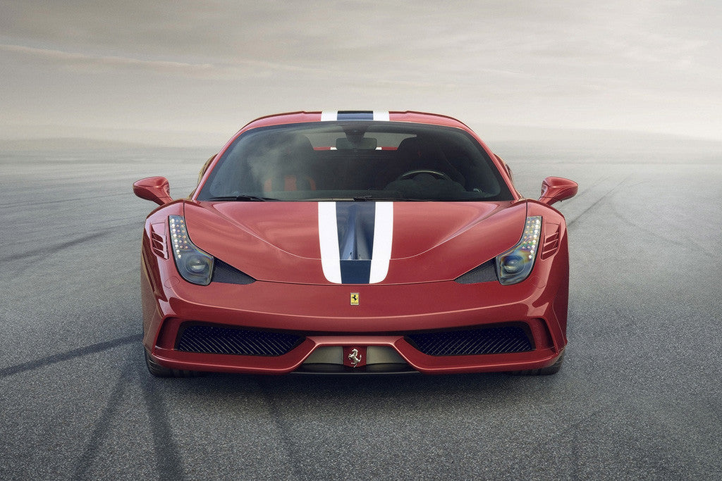 Ferrari 458 Speciale Red Car Poster