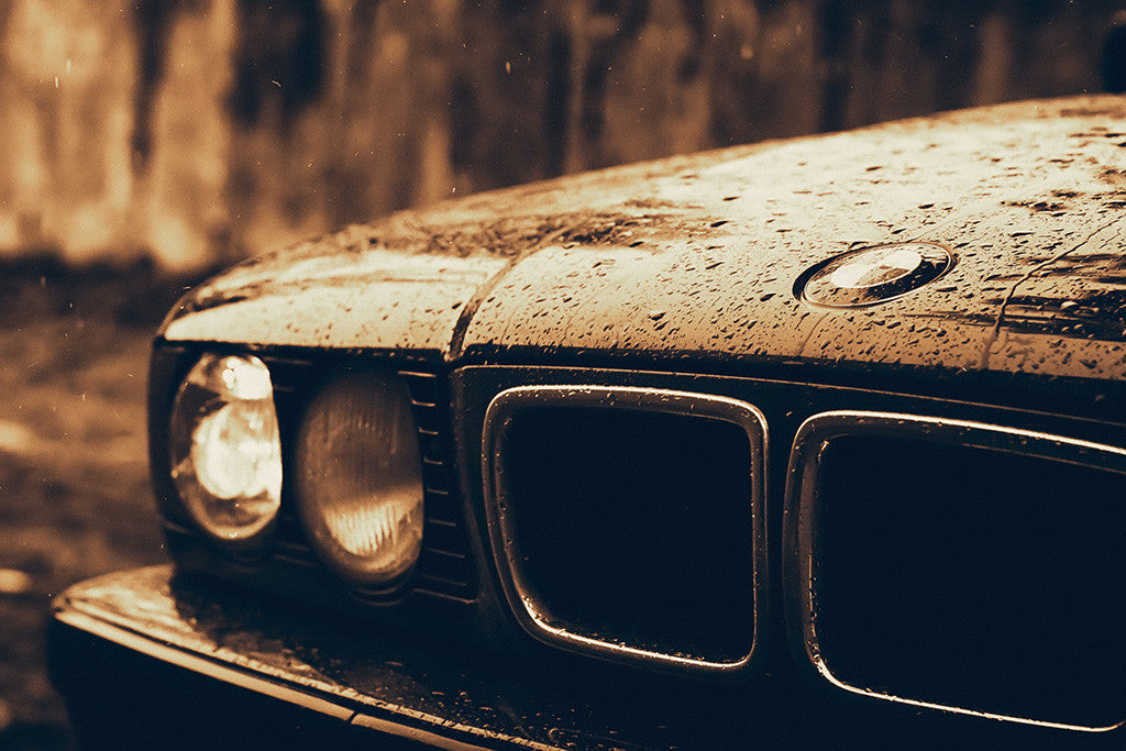 BMW E34 5 Series Car Poster