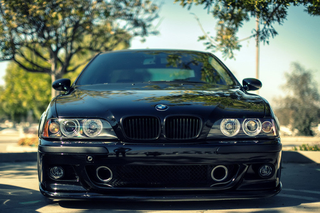 BMW M5 E39 Black Car Poster