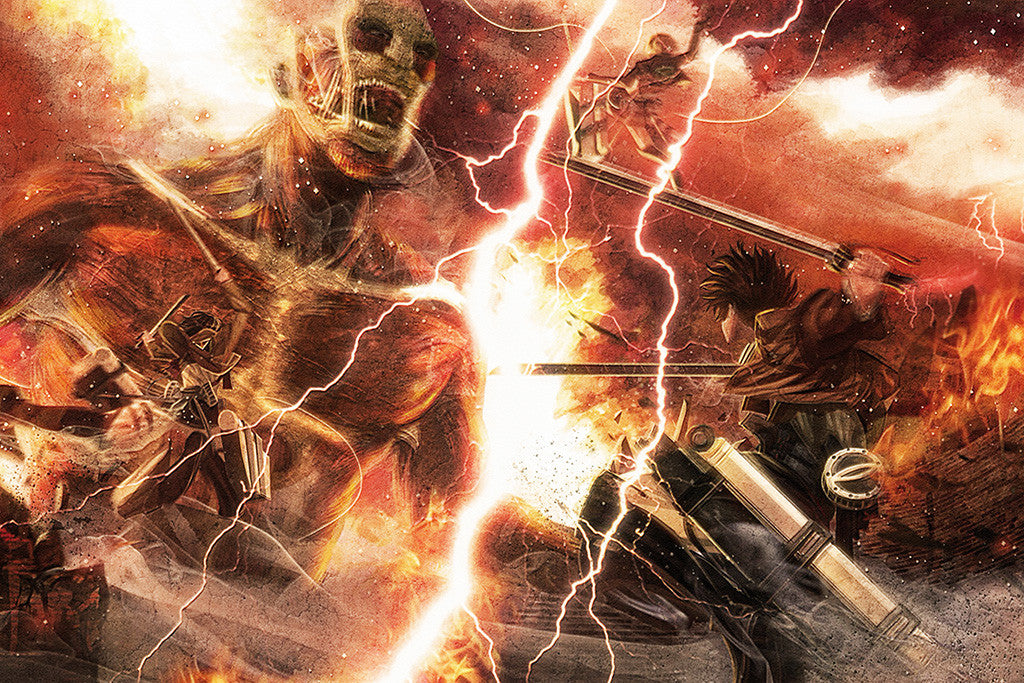 Attack On Titan Battle Anime Poster