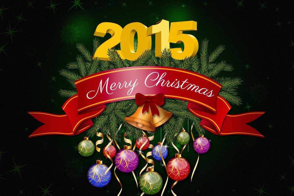 Merry Christmas 2015 Holiday Poster