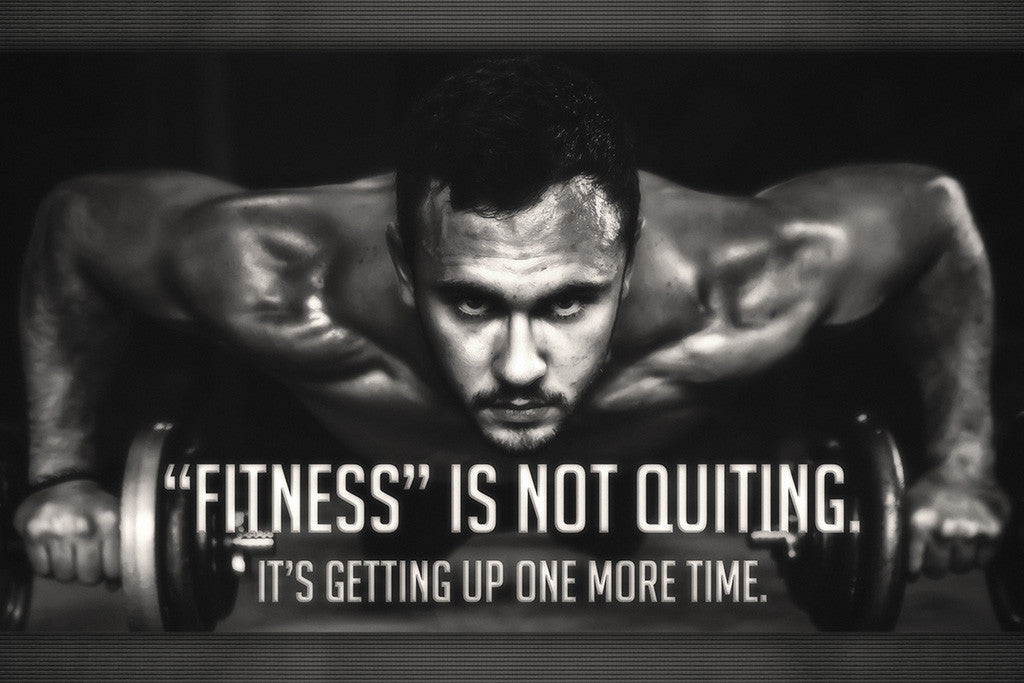 Fitness Motivational Quotes Poster