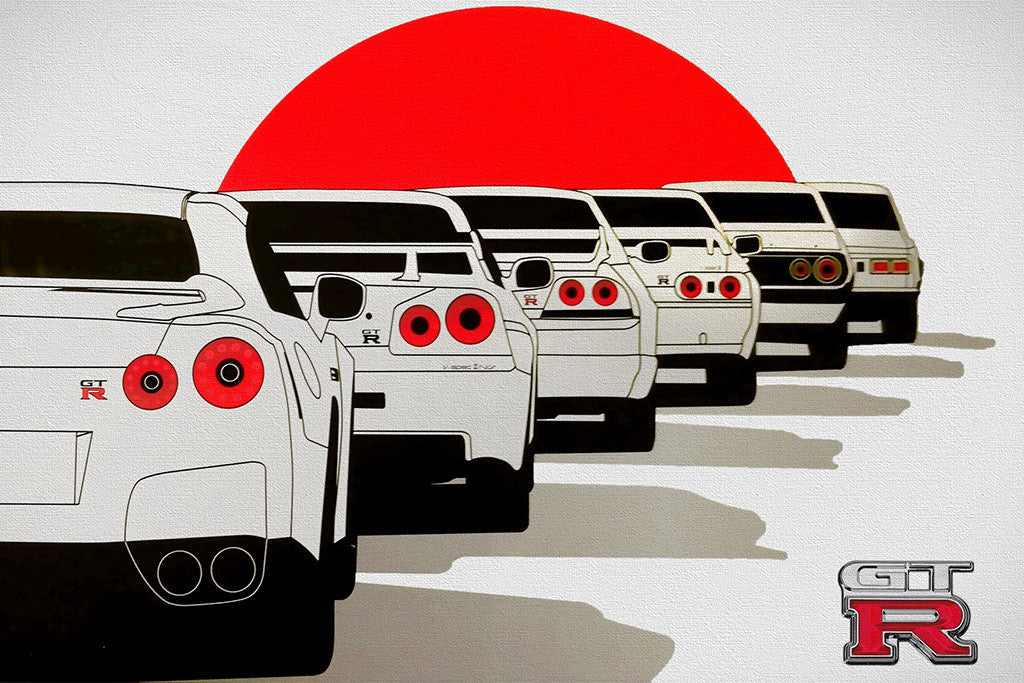 Nissan GT-R 2017 GTR New Car Poster