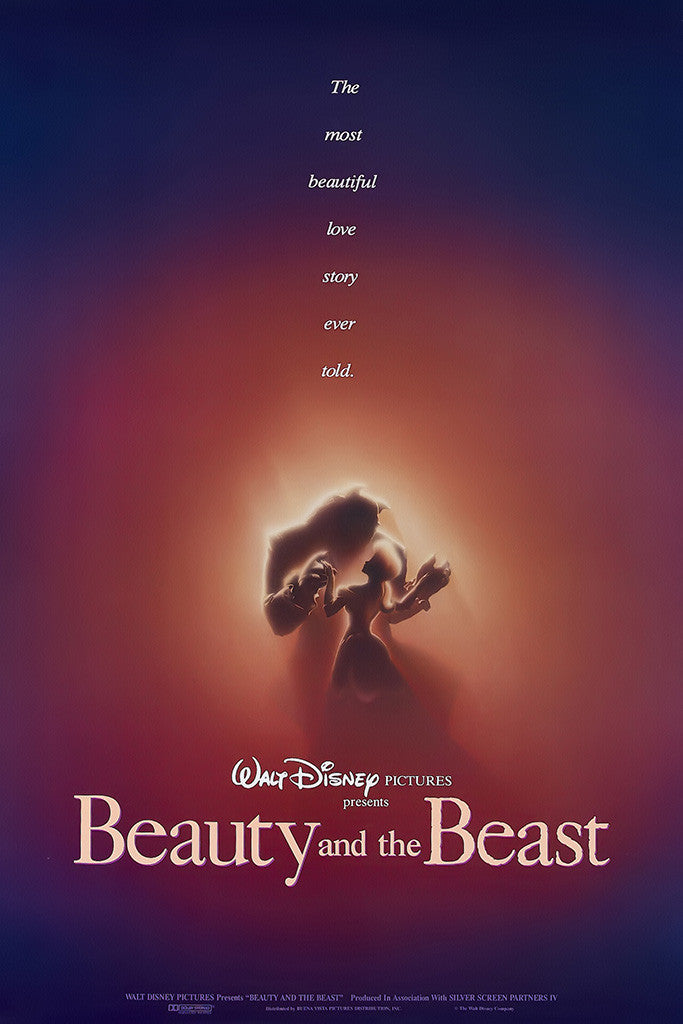 Beauty And The Beast 1991 Classical Vintage Poster
