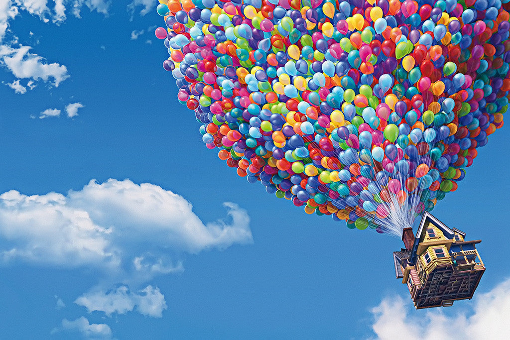 Up Pixar Cartoon Movie Poster