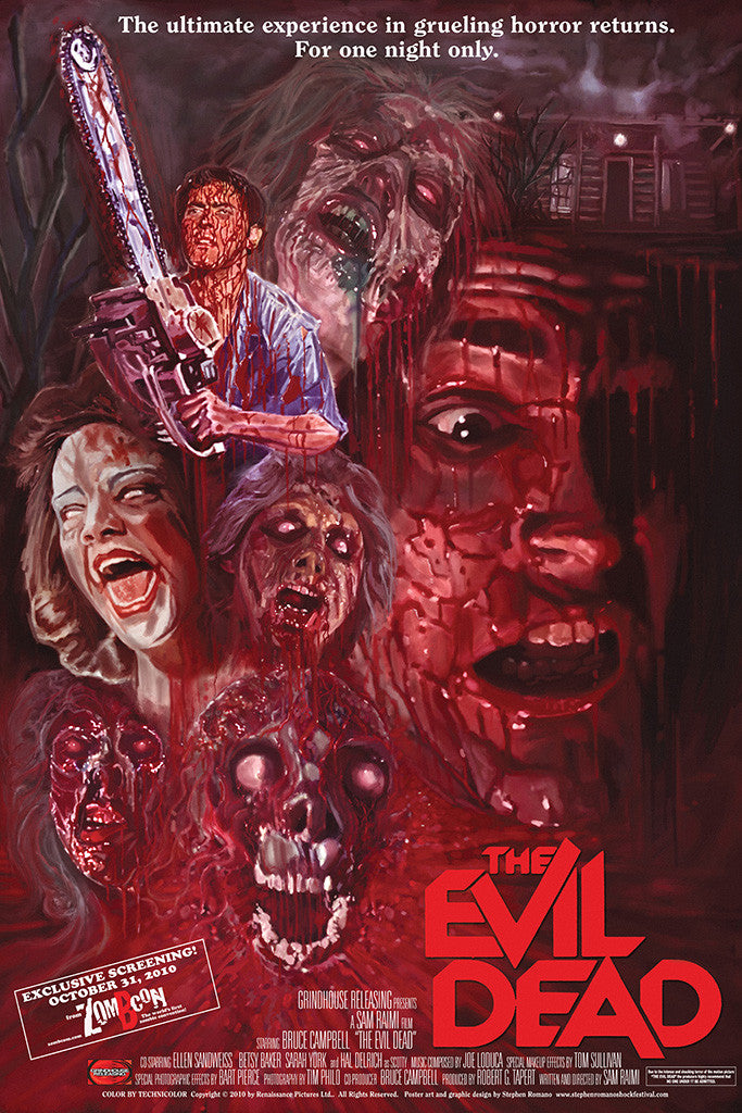 Evil Dead Old Horror Movie Poster
