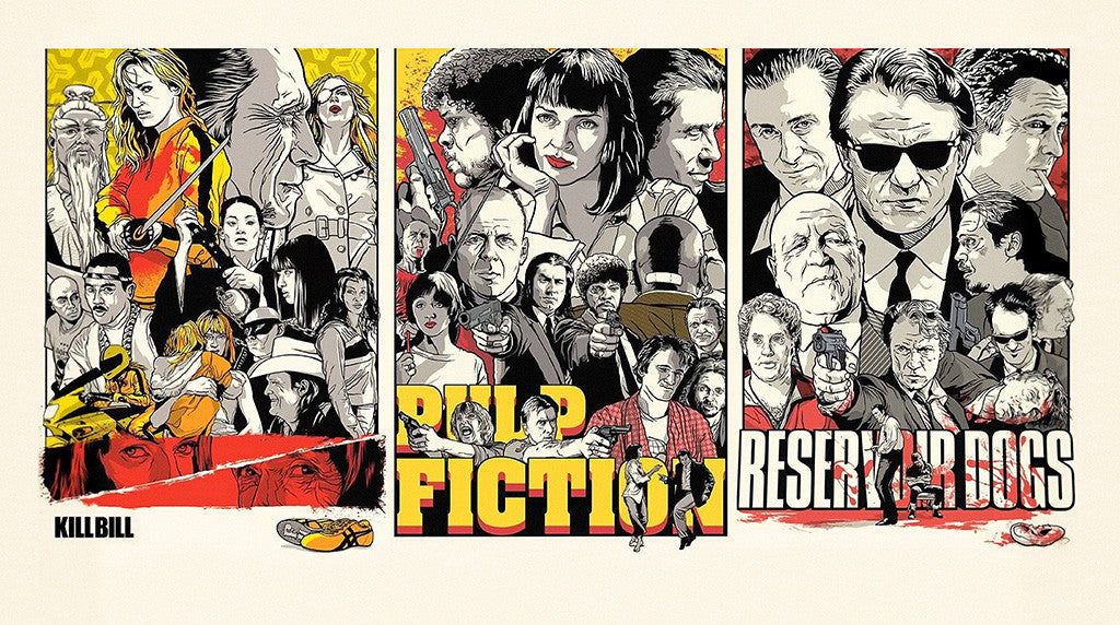 Kill Bill Pulp Fiction Reservoir Dogs Movie Poster