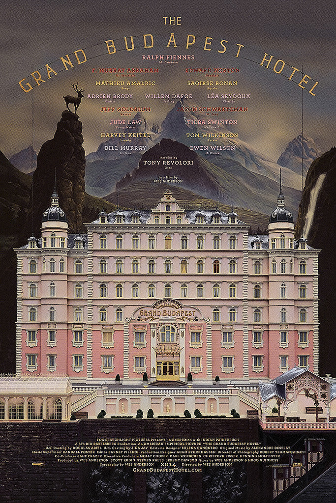 Grand Budapest Hotel M...X Files Poster