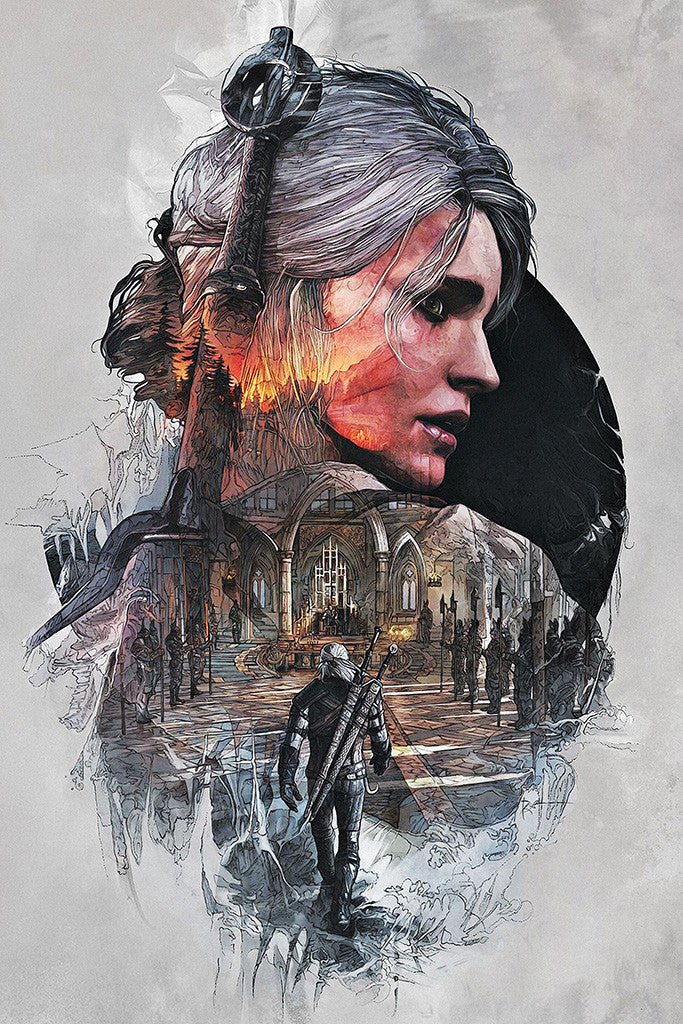 The Witcher 3 Ciri Poster