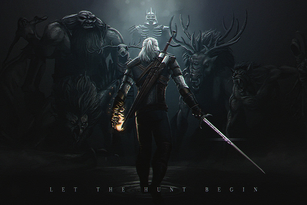 The Witcher 3 Wild Hunt Geralt of Rivia Fight Poster