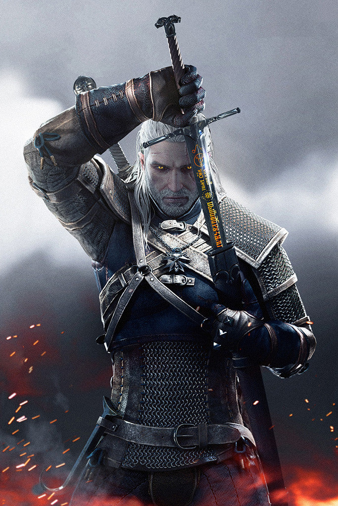 The Witcher 3 Wild Hunt Geralt of Rivia Poster