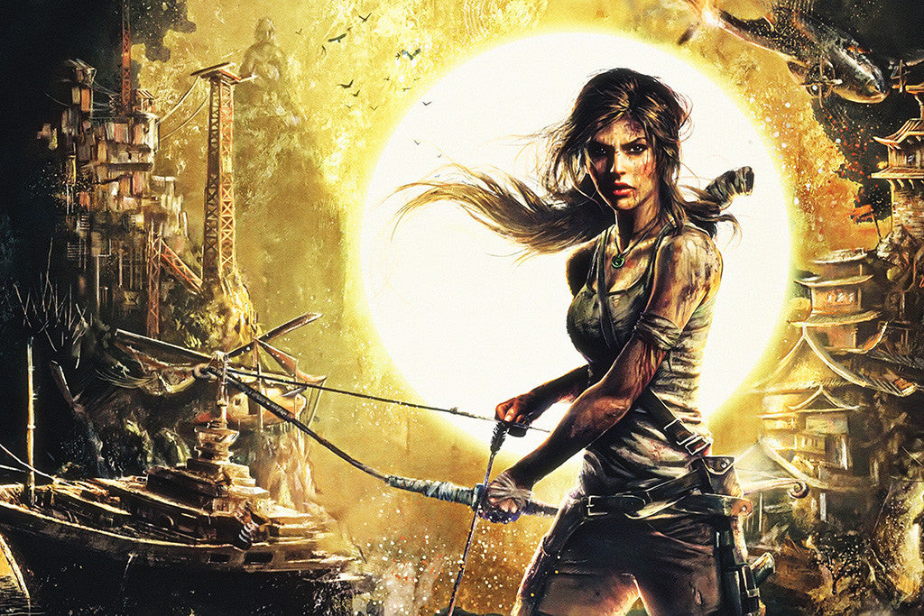 Lara Croft Rise Of The Tomb Raider Poster