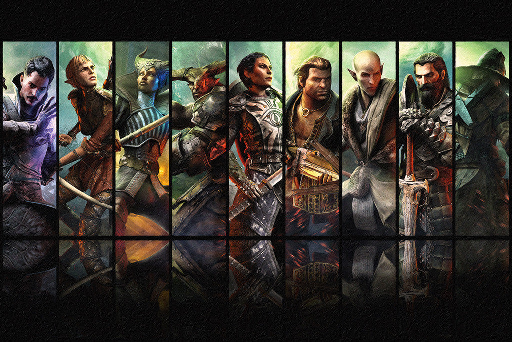 Dragon Age Inquisition Characters Poster