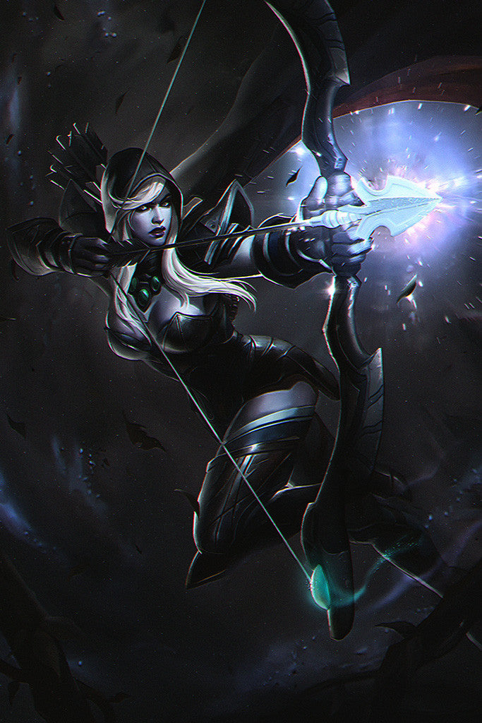DOTA 2 Defence Of The Ancients Drow Ranger Poster