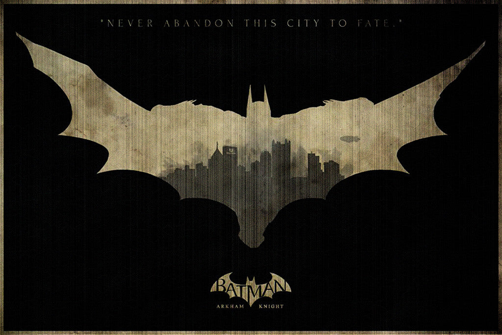Batman Arkham Knight Logo Poster