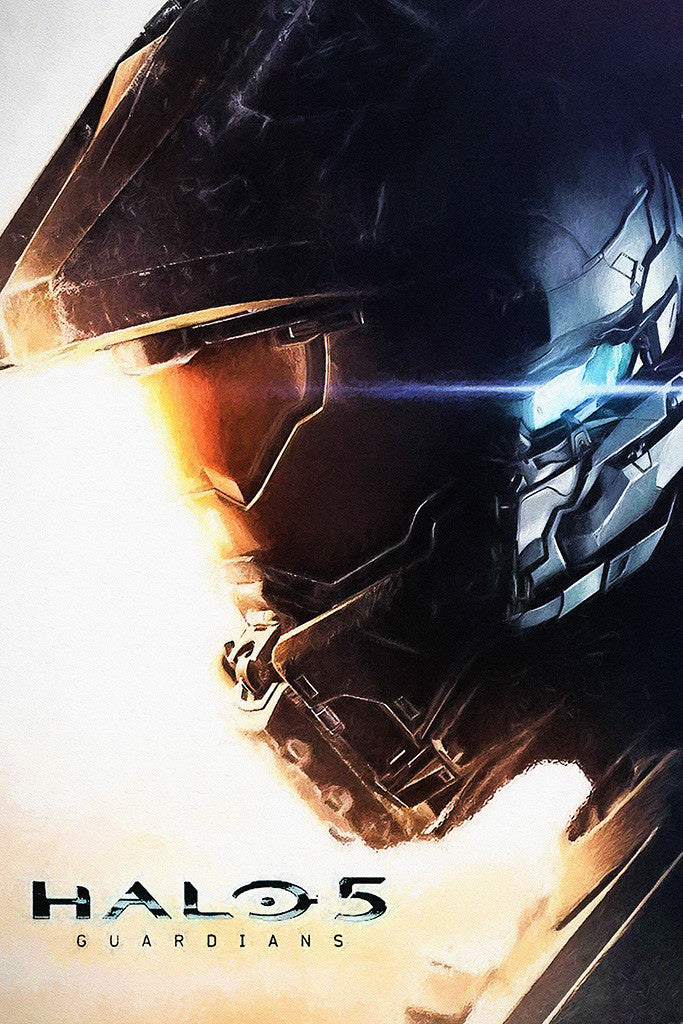 HALO 5 Guardians Close Up Poster