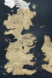 Map of Westeros Game of Thrones Poster