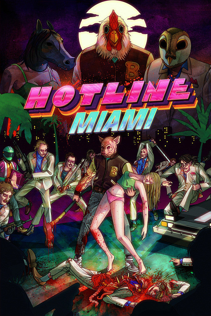 Hotline Miami All Characters Poster