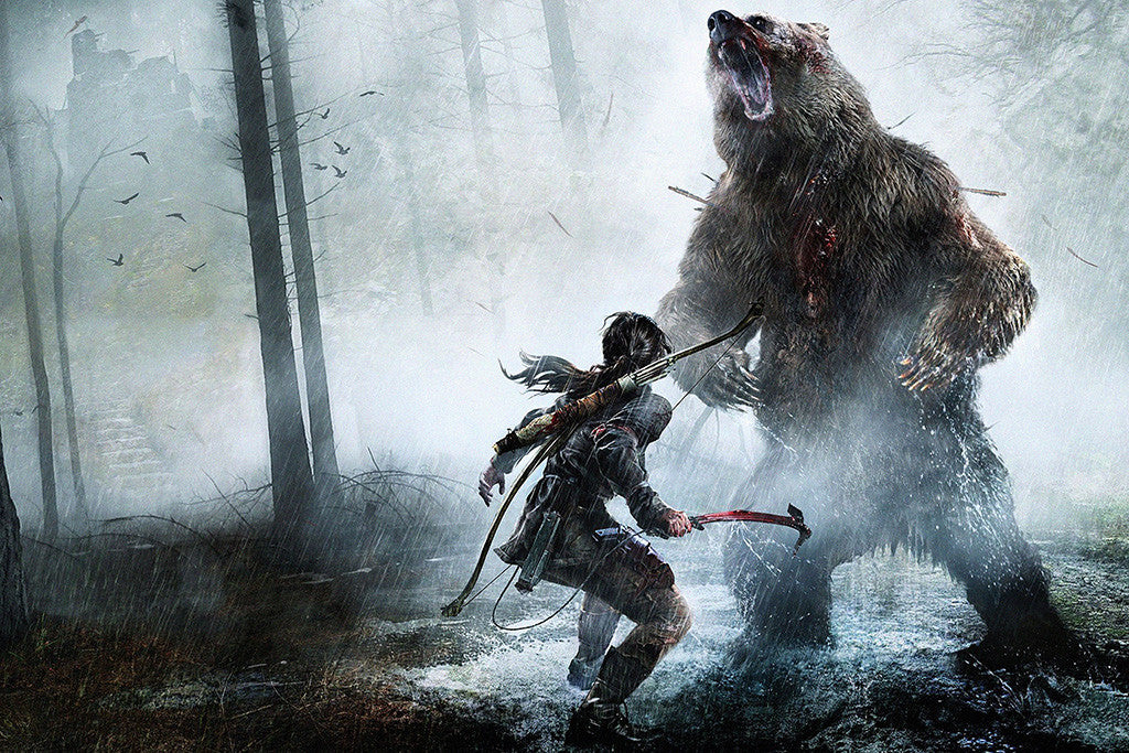 Game Rise Of The Tomb Raider Lara Croft Poster