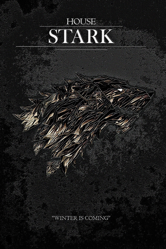 Charming Game Of Thrones Winter Is Coming House Stark Poster