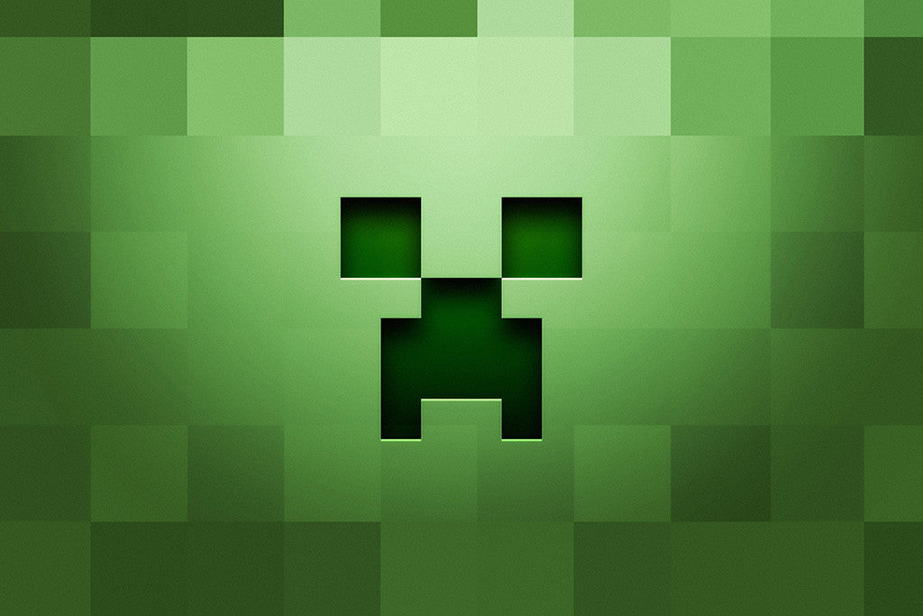 Sports Cars For Sale >> Minecraft Creeper Logo Poster – My Hot Posters