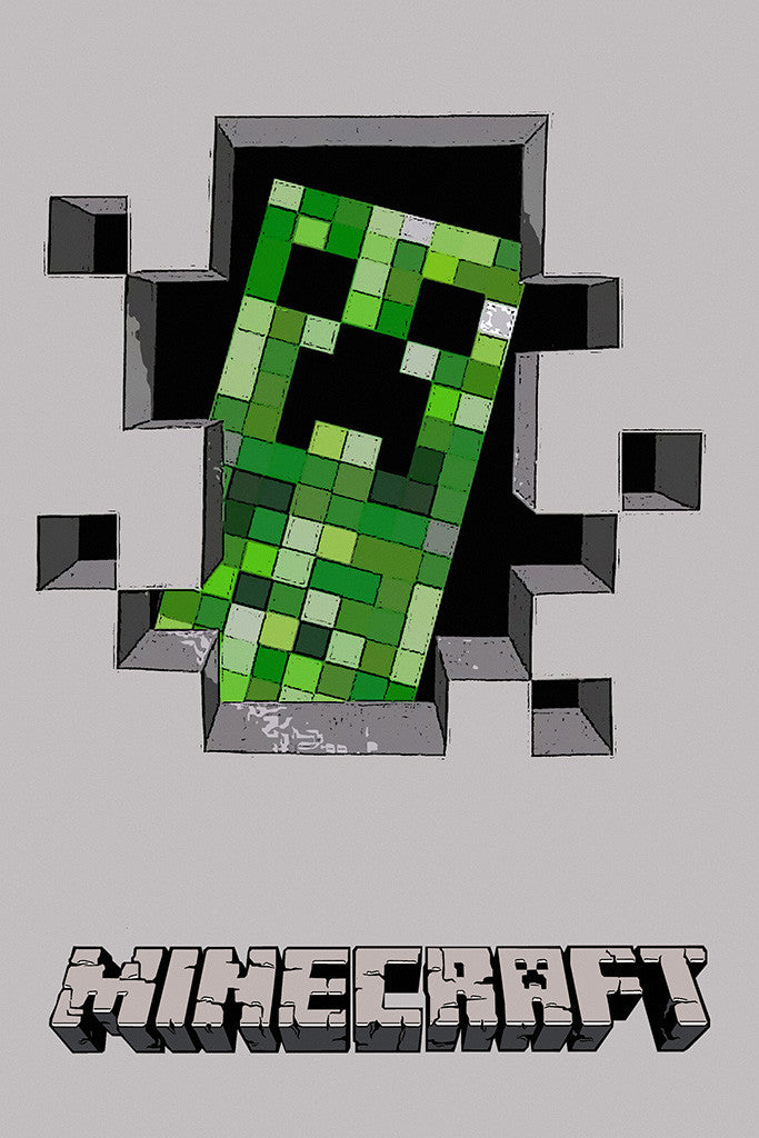 Creeper Minecraft Poster