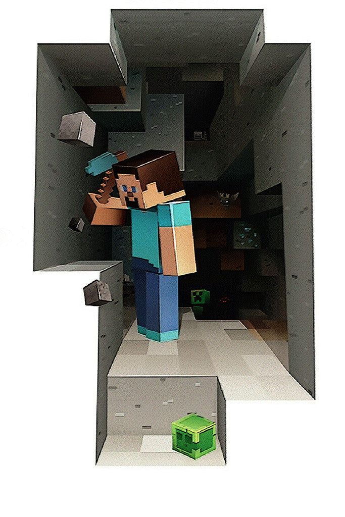 Minecraft Steve Poster My Hot Posters