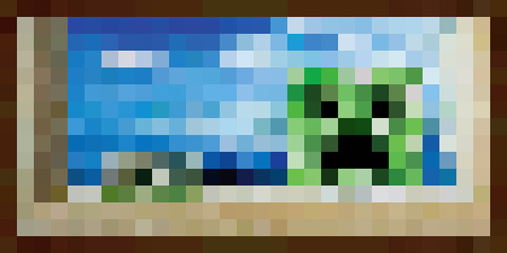 Minecraft Creeper Pixelated Poster