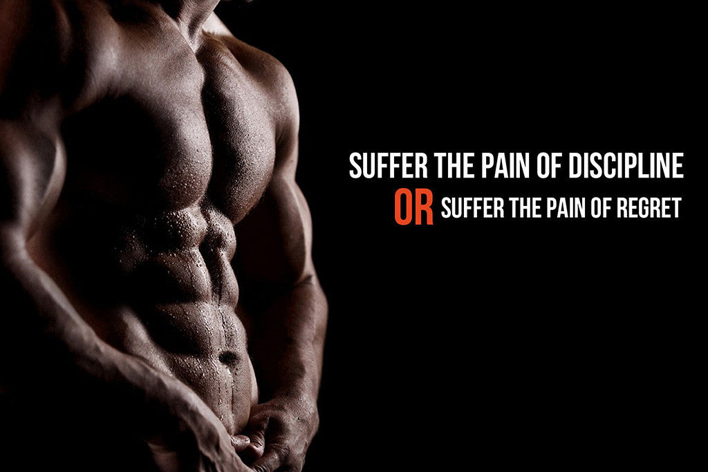 Bodybuilding Motivational Inspirational Quote Suffer the Pain Poster