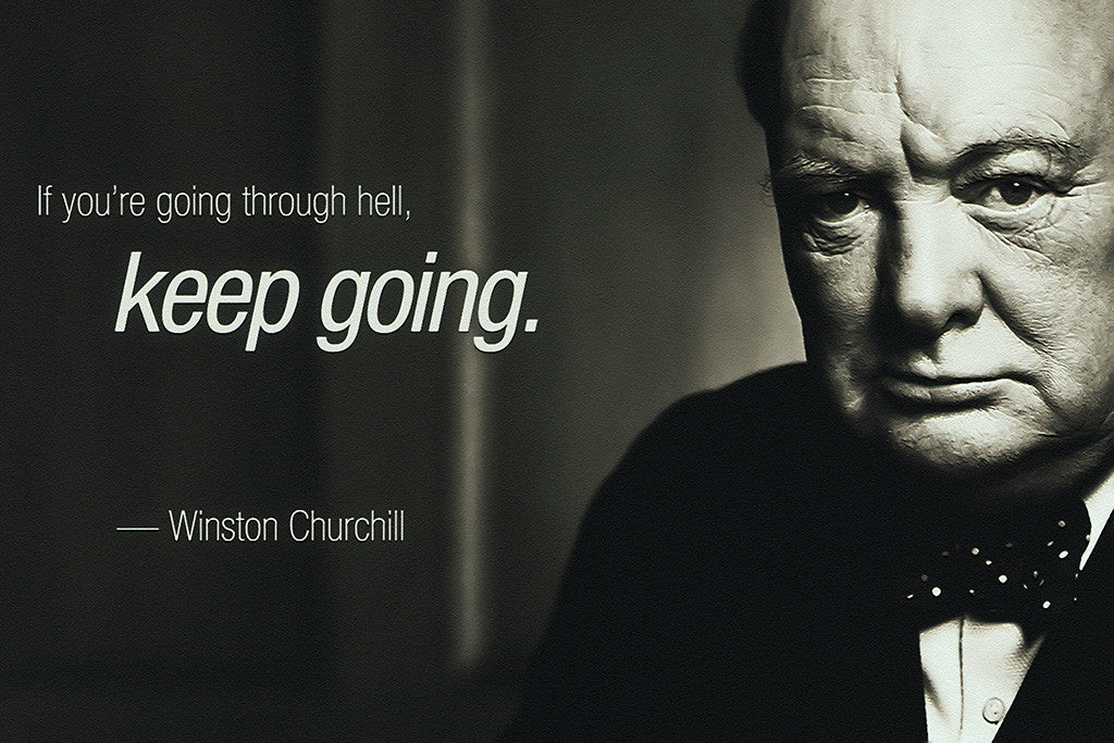 Winston Churchill Motivational Quote Poster