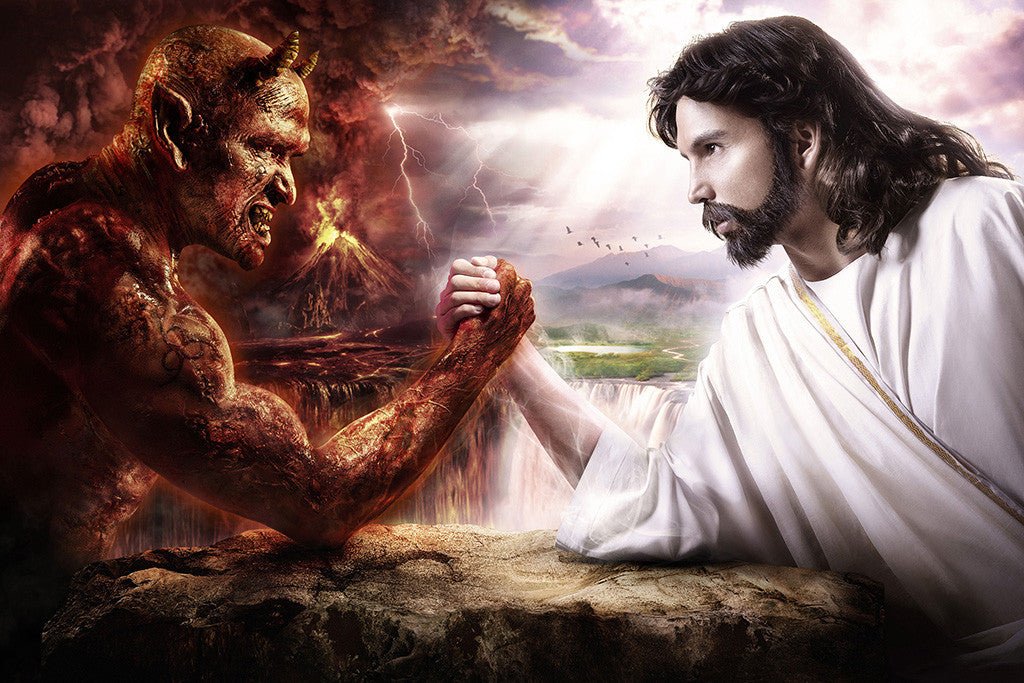Jesus Christ vs Devil Poster