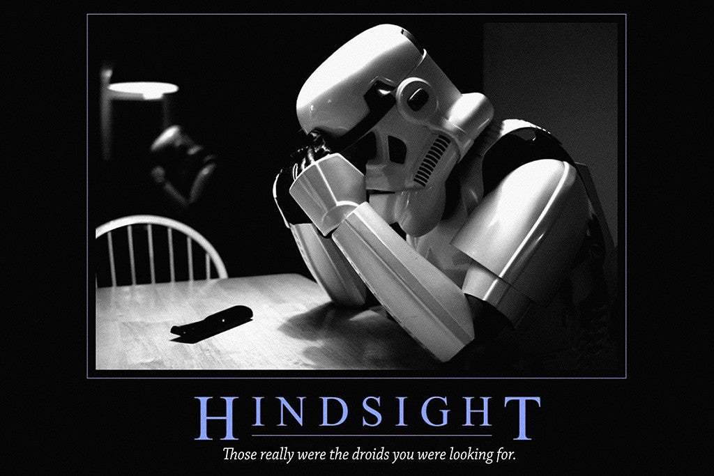 Hindsight Inspirational Quote Poster