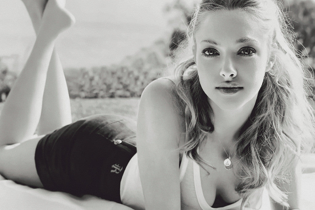 Amanda Seyfried Black and White Poster