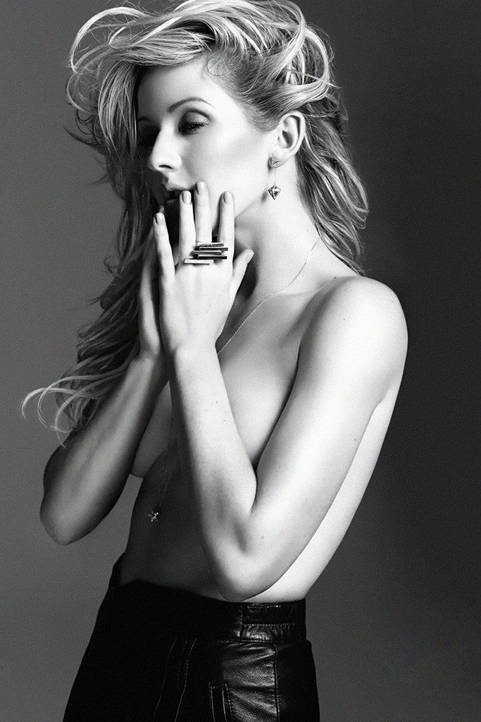 Ellie Goulding Black and White Poster