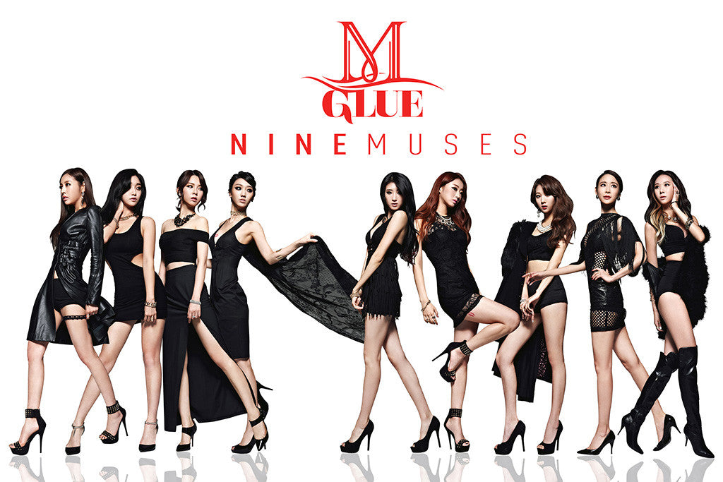 9 Nine Muses Kpop Hot Girls Poster