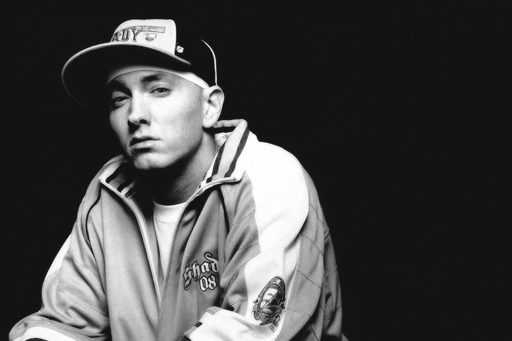 Eminem black and white