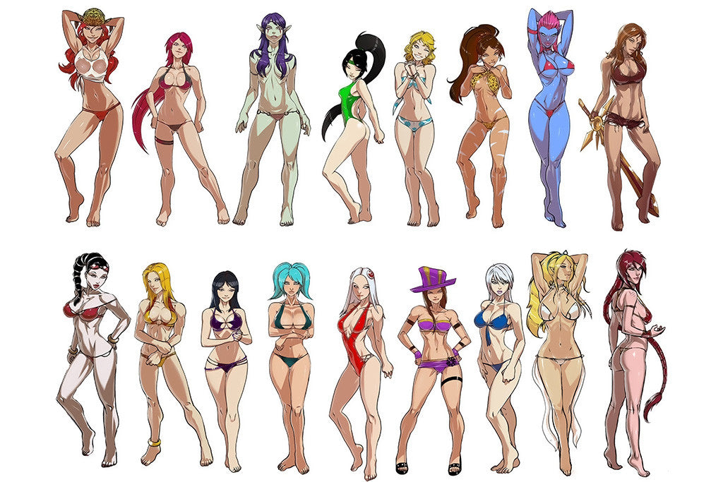 League Of Legends Female Characters All Girls Poster