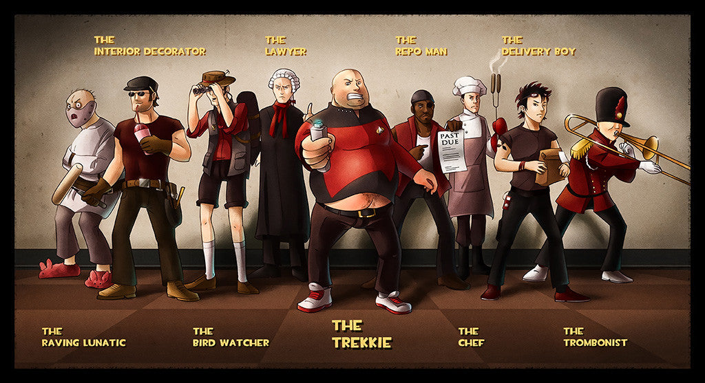 Team Fortress 2 TF2 Characters Poster
