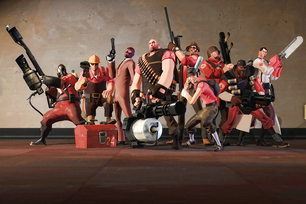 Team Fortress 2 All Characters Poster