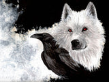 Game of Thrones Wolf and Crow Poster