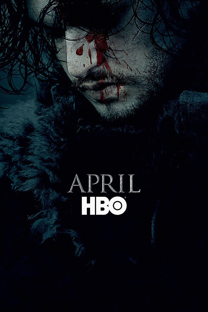 Game of Thrones Season 6 Jon Snow Blood Poster