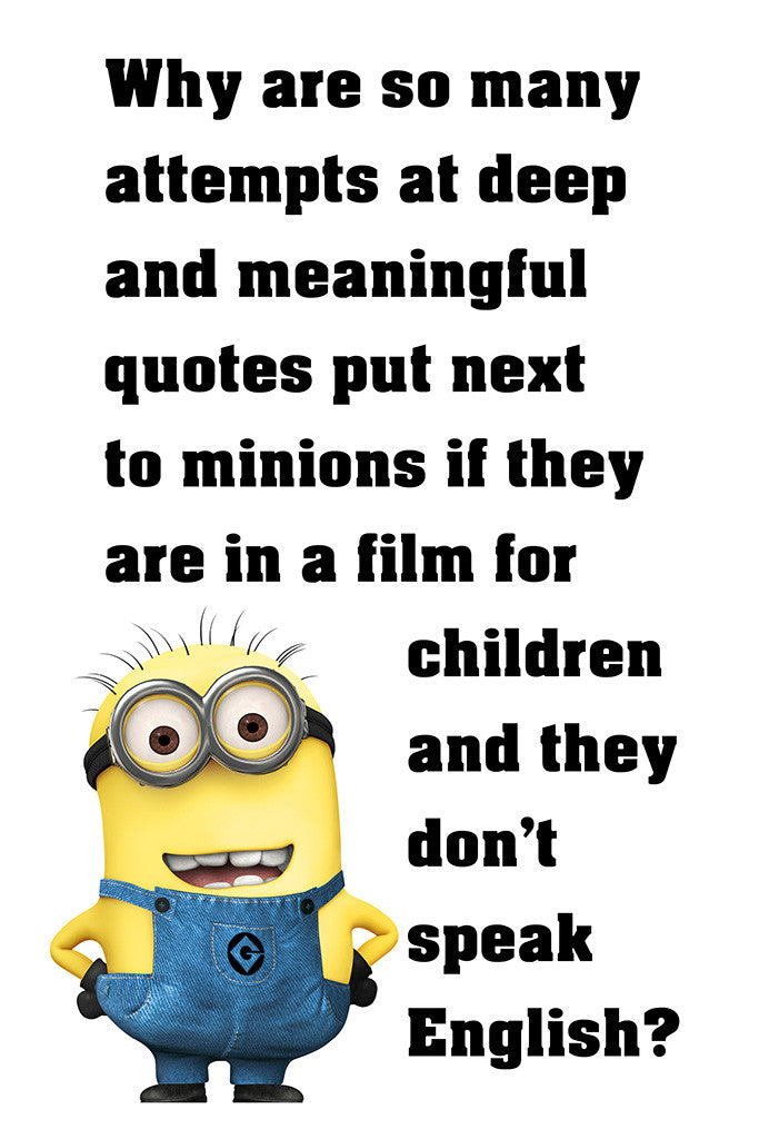 Funny Quotes Quotes And Jokes On Pinterest: Minion Quotes Funny Motivational Poster