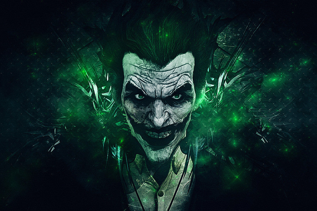 Batman: Arkham Origins Green Joker Poster