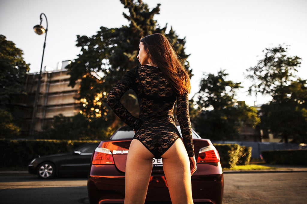 BMW M5 E60 Sexy Hot Girl Booty Poster